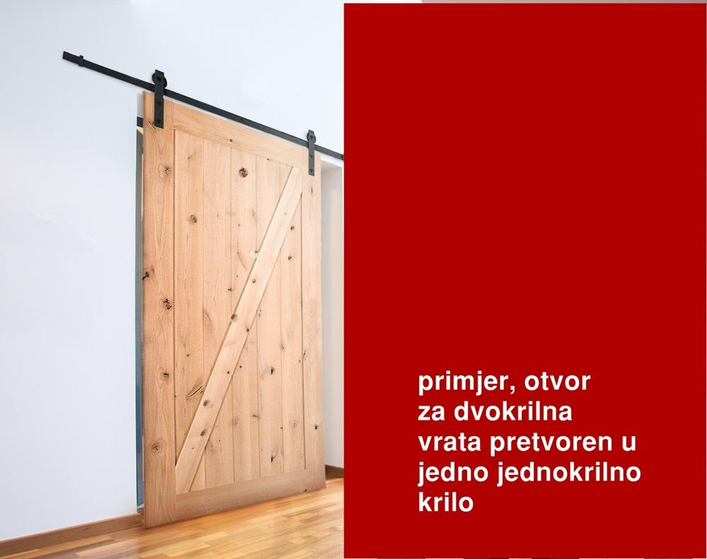 alt=notranja drsna lesna vrata si, mehanizam klizna vrata rs, vodilice za klizna vrata vodilice