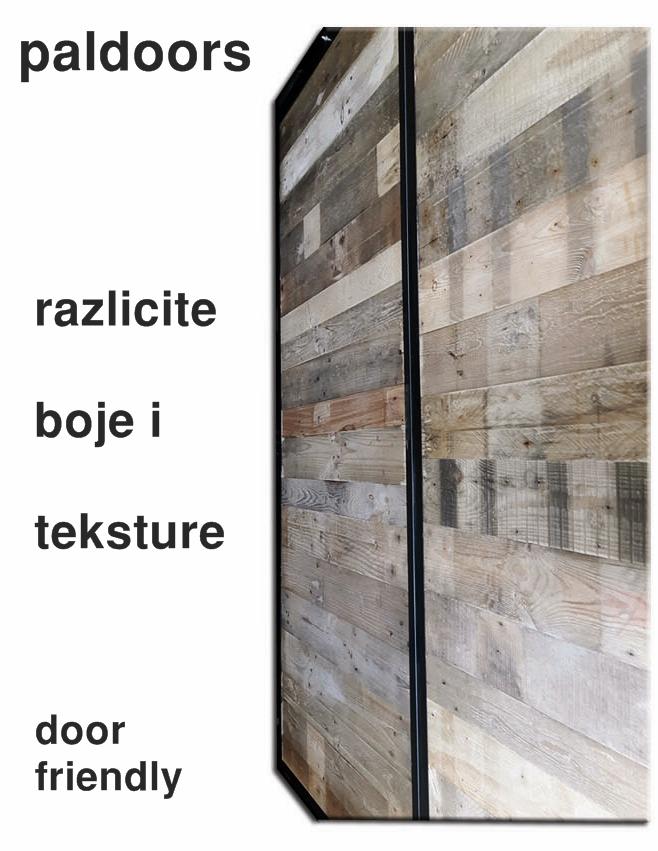 vrata sa metalnim okvirom ispuna palete drvo od paleta klizna drsna vrata klizna vrata